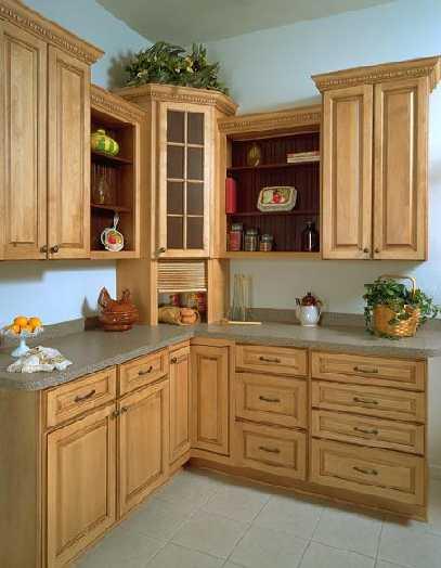 Chocolate Glaze Kitchen Cabinet (sw06) - China glazed kitchen,wood