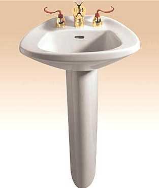 Round Pedestal Sink : Pedestal Single Hole Sink in Cotton - Pedestal Sinks - Bathroom Sinks ...